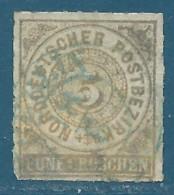 Confédération De L'Allemagne Du Nord N°6 5g Bistre Oblitéré - Conf. De Alemania Del Norte