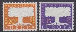 Europa Cept 1957 Saarland 2v  ** Mnh (31994F) - Europa-CEPT