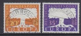 Europa Cept 1957 Saarland 2v  Used (31994G - 1957
