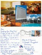 Metropole Hotel, Kowloon, Hong Kong Postcard Posted 2001 Stamp - China (Hongkong)