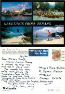 Penang Island, Malaysia Postcard Posted 1992 Stamp - Malaysia