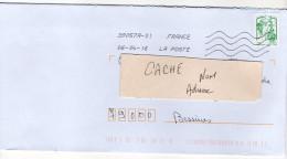 """2016--tp """"Marianne De Ciappa-Kavena  Tp Issu De Feuille """" L.V  Sur Lettre--Nouvelle Toshiba - Marcophilie (Lettres)"""