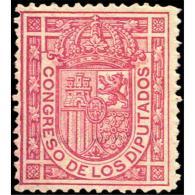 ES230STV-LFT***230STESS.España.Spain. Espagne.REY ALFONSO Xll .ESCUDO DE ESPAÑA.1896/8.(Ed 230**). Sin  Charnela - Sellos