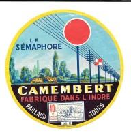 Rare étiquette De CAMEMBERT  Fabriqué Dans L'INDRE - PAILLAUD TOURS -  36 E    Imp GARNAUD ANGOULEME - Formaggio
