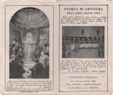 Santino Per La Pasqua Di Chiusura Dell'Anno Santo 1934 Chiesa Parrocchiale Di Piazzola Sul Brenta (Padova) - Santini