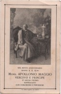 Santino In Memoria Di Mons. Apollonio Maggio, Vescovo Di Ascoli Piceno. Piazzola Sul Brenta (Padova) 21.10.1928 - Santini