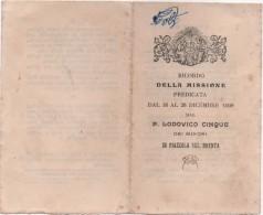 Santino In Ricordo Della Missione Predicata Dal 16 Al 26 Dicembre 1909 A Piazzola Sul Brenta (Padova) - Santini