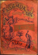 GRAND AGENDA ILLUSTRE Pour L'année 1894 - GRANDS MAGASINS AU PRINTEMPS ALAIS (Gard) - Catalogue De Vente - En L'Etat - Calendari