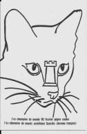 CPM échecs Chess Spassky Fischer Non Circulé Chat Cat - Echecs