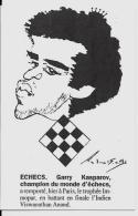 CPM échecs Chess KASPAROV Non Circulé - Chess