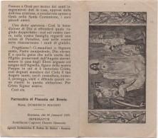 Santino Con Augurio Del Parroco Di Buona Pasqua - Parricchia Di Piazzola Sul Brenta (Padova) 22.01.1929 - Santini