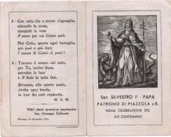 Santino Di San Silvestro I° Papa, Patrono Di Piazzola Sul Brenta (Padova) - Vicenza 18.12.1936 - Santini