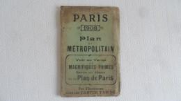 (Transport - Métro - Plan TARIDE....) -  PARIS - 1908 - PLAN Du METROPOLITAIN..............voir Scans - Ferrovie