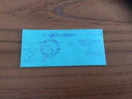 "Ticket De Transports RATP SNCF (metro, RER) ""SECTION U - RUEIL-MALMAIS - 2eme Classe"" Vert - Europe"