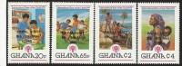 Ghana 1980 International Year Of The Child IYC Papal Visit Overprint MNH Set - Ghana (1957-...)