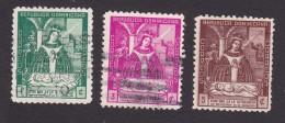 Dominican Republic, Scott #384-386, Used, Virgin Of Altagracia, Issued 1942 - Dominicaanse Republiek