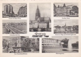 Germany Frankfurt Gruss Aus With Multi View