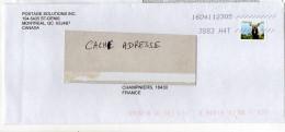 Canada--2016--Lettre De Montréal Québec  Pour Champniers-16--Charente--tp (animal) Seul Sur Lettre - 1952-.... Règne D'Elizabeth II