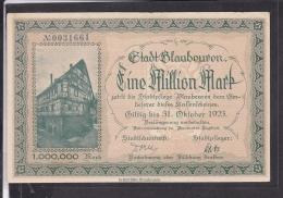 Notgeldschein Blaubeuren Eine Million Mark 1923 - Lokale Ausgaben