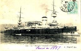 AB 980  /     C P A  -  LE MARCEAU   CUIRASSE  A TOURELLES - Warships