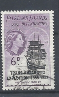 FALKLAND ISLAND  1956 OVERPRINT  TRANS- ANTRARTIC EXPEDITION  USED - Falkland