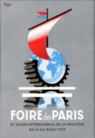 ! 1955 Foire De Paris, To Oran , Salon International De La Philatelie, Werbekarte, Reklame, Philately, Sign. Bourgio, - Briefmarken (Abbildungen)