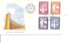 Exposition De Bruxelles -1958( FDC Du Vatican à Voir)