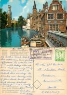 Rosary Quay, Bruges, Belgium Postcard Posted 1965 Stamp - Brugge
