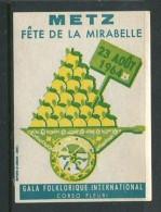 "1964 Metz Fete De La Mirabelle Gala Folklorique International Reklamemarke Poster Stamp Vignette Never Hinged 2 X 2 5/8"" - Cinderellas"