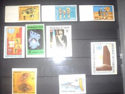 LOT IMPERF IMPERFORATE NON DENTELE ND CHAD TCHAD DJIBOUTI NIGER CAMEROUN TOGO MASKS MNH ** - Autres - Afrique