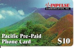 -CARTE-PREPAYEE-USA-10$-IMPULSE-COM-PACIFIC-Plastic Fin-TBE - Sonstige