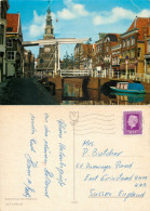 Kuipersbrug Met Waagtoren, Alkmaar, Noord-Holland, Netherlands Postcard Posted 1977 Stamp - Alkmaar