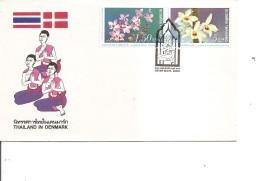 Thailande -Fleurs ( FDC De 1980 à Voir) - Thailand