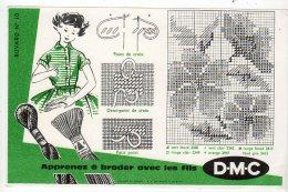 Aot16   76285     Buvard   DMC  Apprenez à Broder - Textile & Vestimentaire