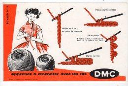 Aot16   76284     Buvard   DMC  Apprenez à Broder  N° 8 - Textile & Vestimentaire