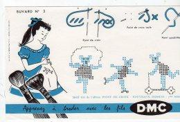 Aot16   76280    Buvard   DMC  Apprenez à Broder  N° 3 - Textile & Vestimentaire