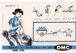 Aot16   76277    Buvard   DMC  Apprenez à Broder  N° 2 - Textile & Vestimentaire
