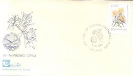 1985-1991 SERIE BASICA FLORES ARGENTINAS EN PESOS ARGENTINOS  AMANCAY ALSTROEMERIA AURANTIACA - Végétaux
