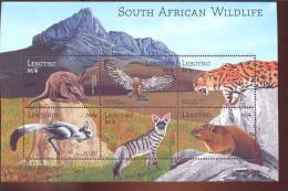 LESOTHO   1305 MINT NEVER HINGED MINI SHEET OF WILDLIFE & ANIMALS   # M-0629-3  ( - Unclassified