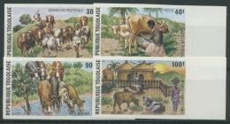 Togo 1974 Szenen Aus Dem Hirtenleben Rinder 1070/73 B Postfrisch - Togo (1960-...)