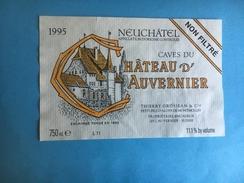 1590 - Suisse Neuchâtel Caves Du Château D'Auvernier Non Filtré 1991 - Etiquettes