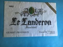 1595 - Suisse Neuchâtel  Le Landeron 1982 Gilbert Frochaux - Etiquettes