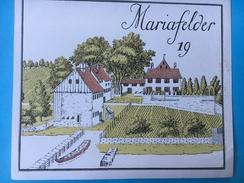 1599 - Suisse Zurich Mariafelder - Etiketten