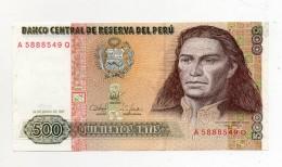 Perù - 1987 - Banconota Da 500 INTIS - Nuova -  (FDC299) - Perú