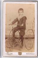 Romania CDV Korn Bucuresci 1880 Copil Pe Tricicleta! - Photos
