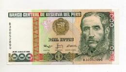 Perù - 1988 - Banconota Da 1000 INTIS - Nuova -  (FDC300) - Pérou