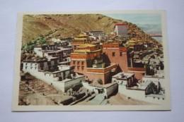 Tibet. Samzhubzê District . Jeshilunbu Monastery - Aerial View   - Old Postcard 1950s - Tibet