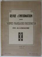 1949 N° 40 Revue D'Information Des Troupes Françaises D'occupation En Allemagne - Revues & Journaux