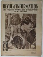 1949 N° 41 Revue D´Information Des Troupes Françaises D´occupation En Allemagne - Revues & Journaux