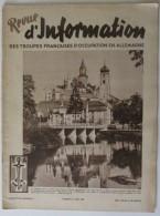 1949 N° 46 Revue D´Information Des Troupes Françaises D´occupation En Allemagne - Revues & Journaux